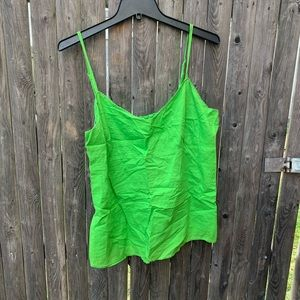 Vintage green double layer camisole top